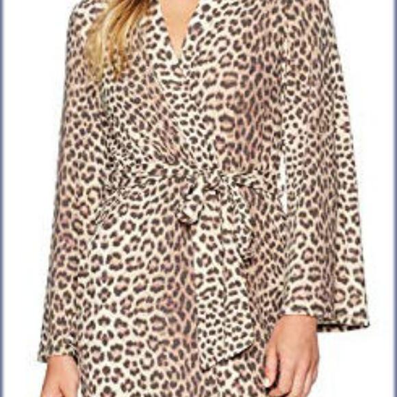 e5c0b307c2 Betsey Johnson Other - Betsey Johnson Cashmere Leopard Robe Large NWT